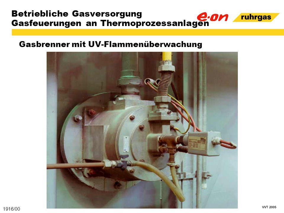 VVT 2005 Betriebliche Gasversorgung Gasfeuerungen an Thermoprozessanlagen Gasbrenner mit UV-Flammenüberwachung 1916/00