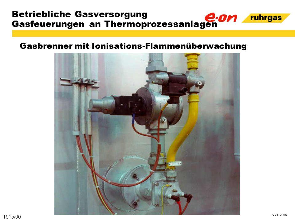 VVT 2005 Betriebliche Gasversorgung Gasfeuerungen an Thermoprozessanlagen Gasbrenner mit Ionisations-Flammenüberwachung 1915/00