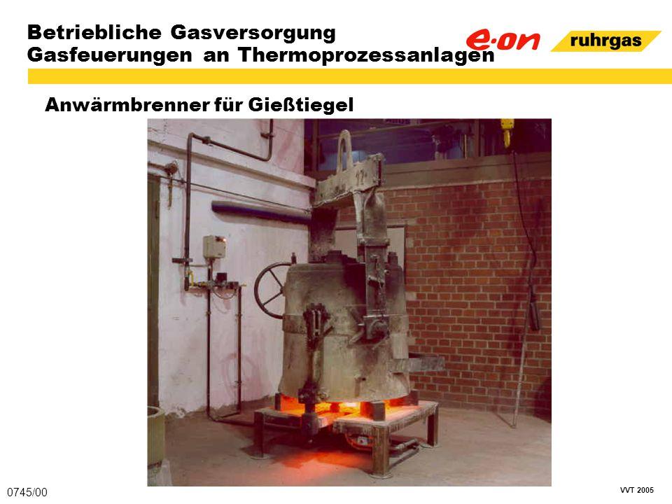 VVT 2005 Betriebliche Gasversorgung Gasfeuerungen an Thermoprozessanlagen Anwärmbrenner für Gießtiegel 0745/00