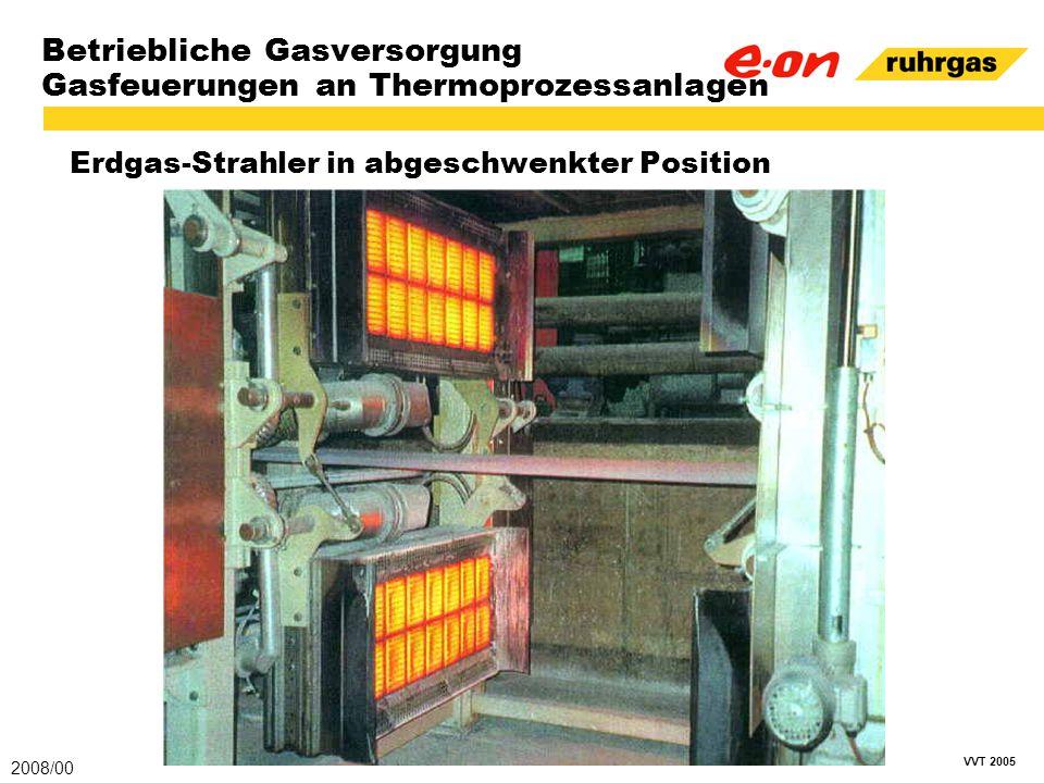 VVT 2005 Betriebliche Gasversorgung Gasfeuerungen an Thermoprozessanlagen Erdgas-Strahler in abgeschwenkter Position 2008/00