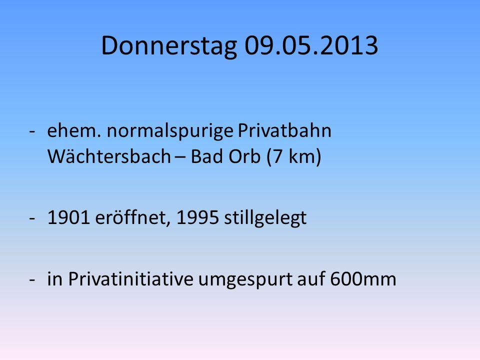 Donnerstag 09.05.2013 -ehem.