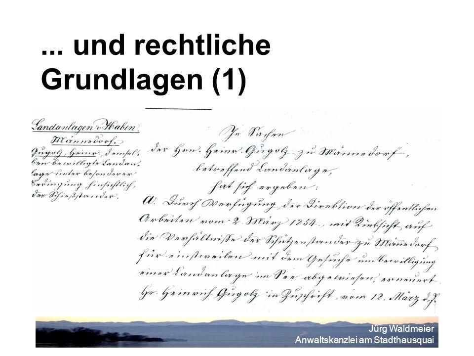 Jürg Waldmeier Anwaltskanzlei am Stadthausquai... und rechtliche Grundlagen (1)