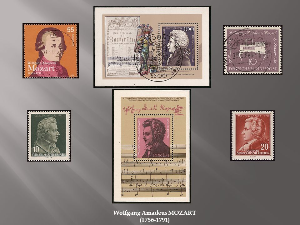 Carl ORFF (1895-1982) Johann Joachim QUANTZ (1697-1773) Hans PFITZNER (1869-1949 Elvis PRESLEY (1955-1977) Günther RAMIN (1898-1956)