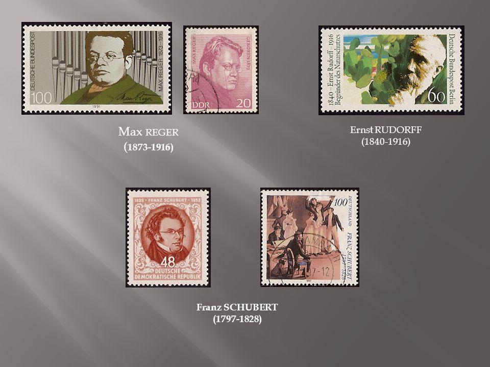 Clara SCHUMANN (1812-1896) Robert SCHUMANN (1810-1856) Heinrich SCHÜTZ (1585- 1672) Reinhard SCWARTZ-SCHILLING (1904-1985) Friedrich SILCHER (1789-1860)