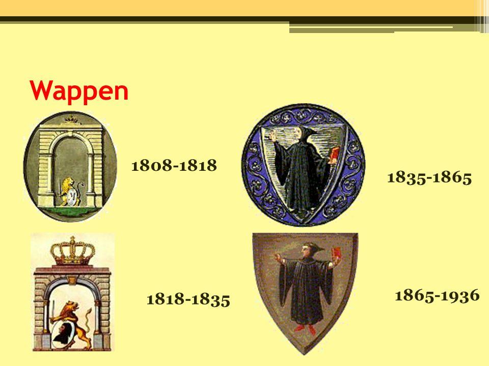 Wappen 1808-1818 1818-1835 1835-1865 1865-1936