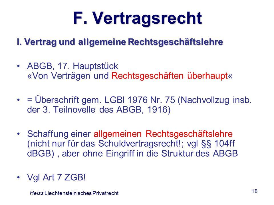 18 F.Vertragsrecht I. Vertrag und allgemeine Rechtsgeschäftslehre ABGB, 17.