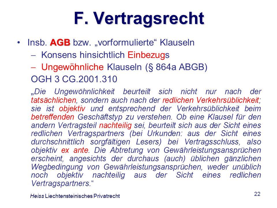 22 F.Vertragsrecht AGBInsb. AGB bzw.