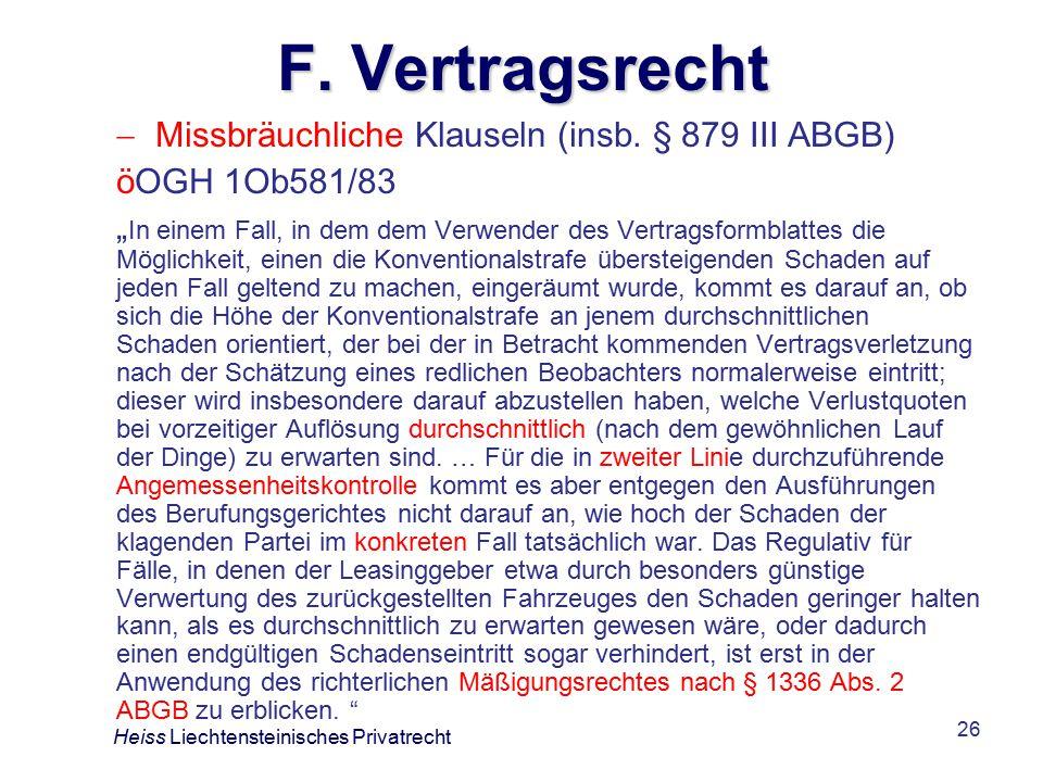26 F.Vertragsrecht  Missbräuchliche Klauseln (insb.