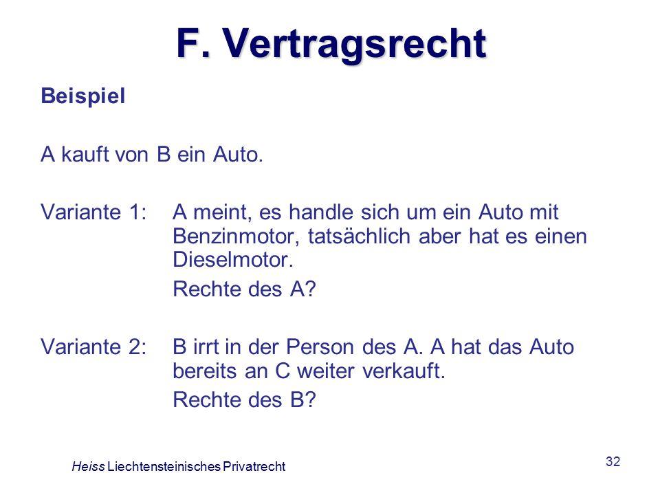 32 F.Vertragsrecht Beispiel A kauft von B ein Auto.