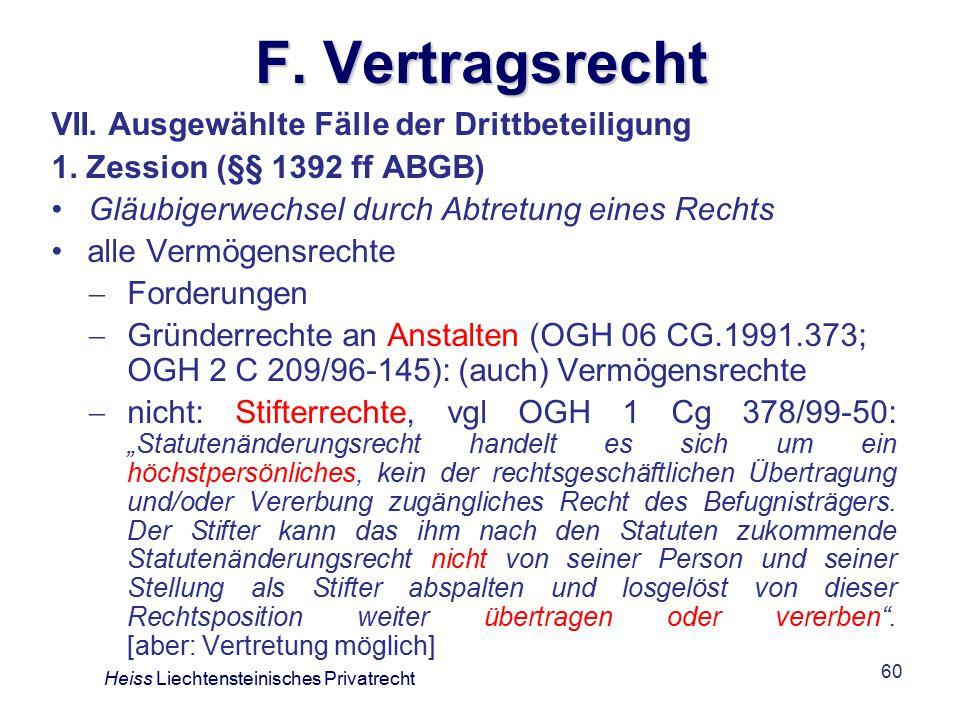 60 F.Vertragsrecht VII. Ausgewählte Fälle der Drittbeteiligung 1.