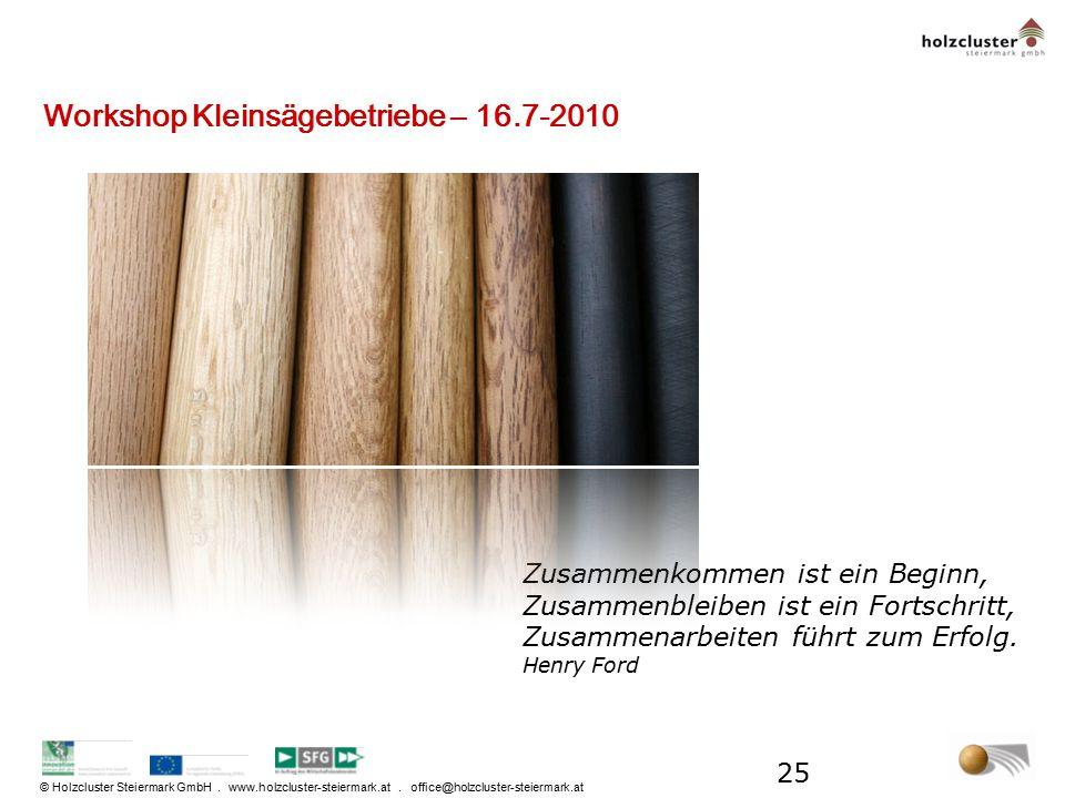 © Holzcluster Steiermark GmbH. www.holzcluster-steiermark.at. office@holzcluster-steiermark.at Zusammenkommen ist ein Beginn, Zusammenbleiben ist ein