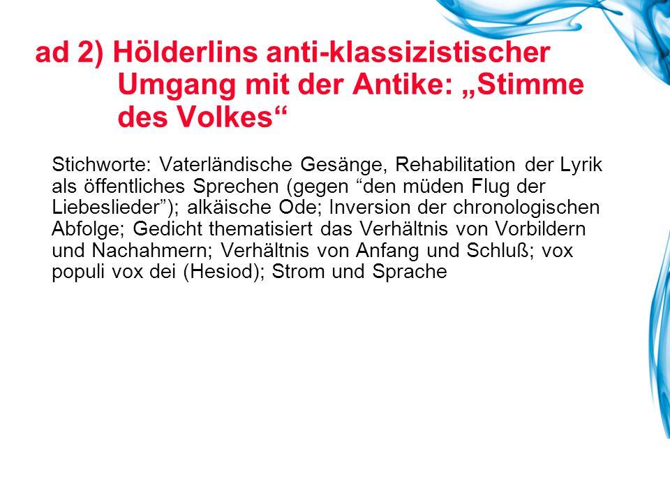 ad 3) Noch ein Kontrastprogramm zur Klassik: Romantische Lyrik Eichendorffs Nachtblume , Reader Nr.