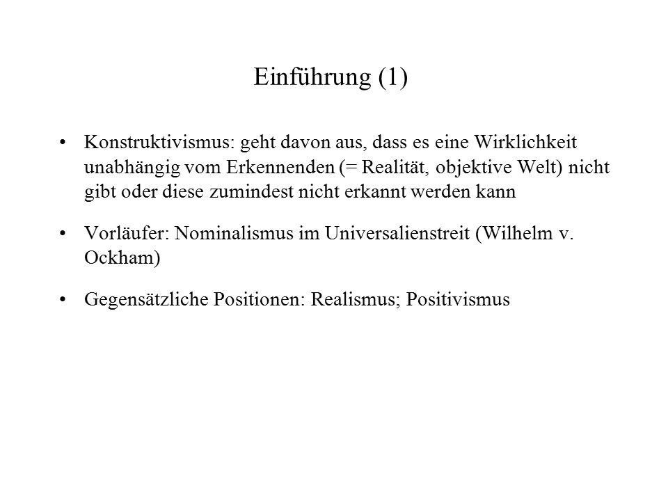 Einführung (2) Philosophen unterscheiden trad.