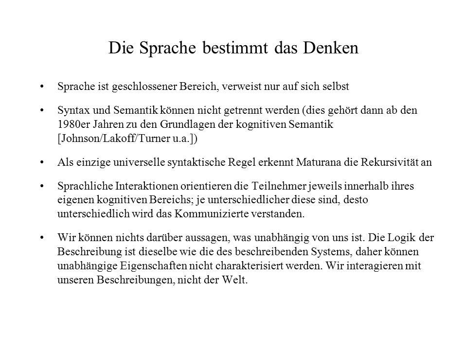 Siegfried J.Schmidt: Das Gehirn ist schuld Wahrnehmung findet nicht (wie man früher dachte) v.a.