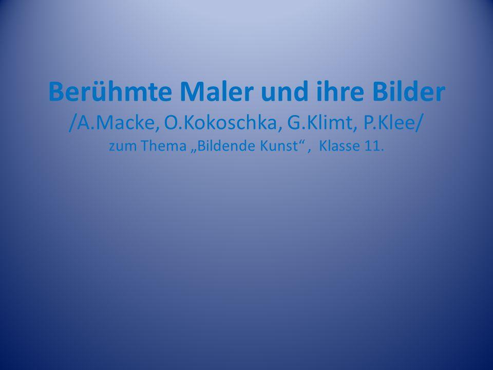 AUGUST MACKE Der deutscher Maler August Macke wurde am 03.