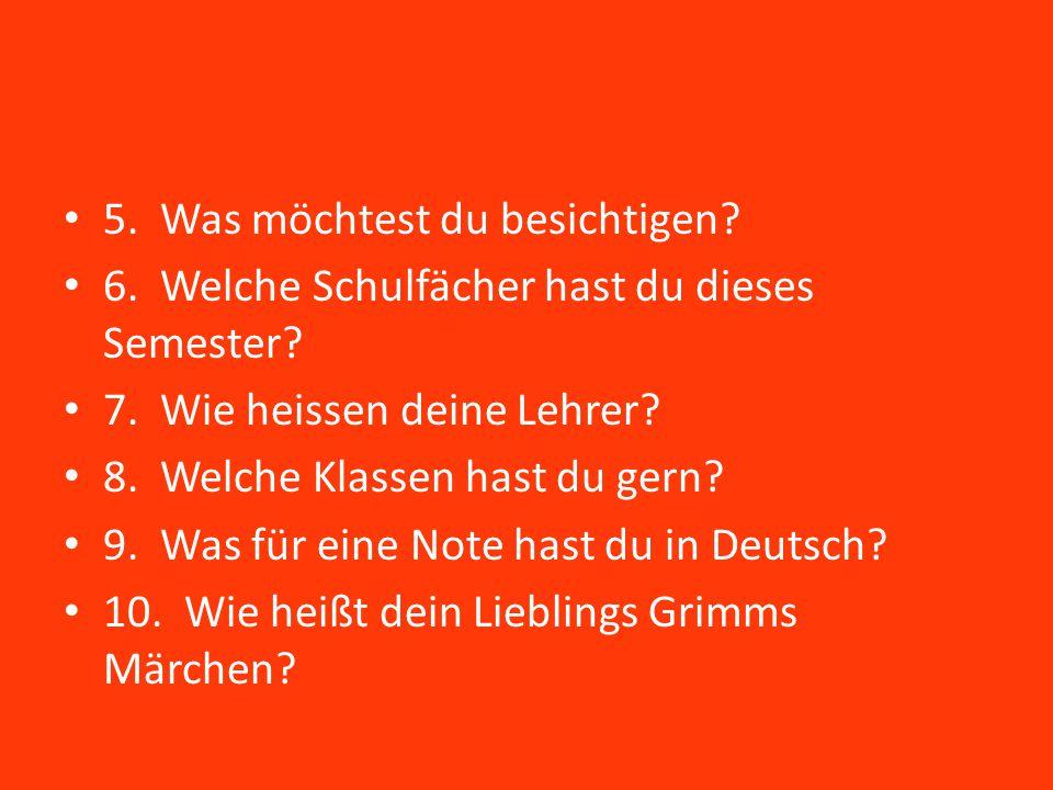 Bellwork- Tag 39 Schreiben die Sätze auf deutsch.1.