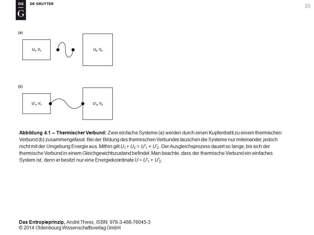 Das Entropieprinzip, André Thess, ISBN: 978-3-486-76045-3 © 2014 Oldenbourg Wissenschaftsverlag GmbH 26 Abbildung 4.2 – Arbeit und Wärme bei quasistatischen Zustandsänderungen: Geometrische Interpretation der während einer quasistatischen Zustandsänderung an einem System verrichteten Arbeit (a) sowie der zwischen dem System und seiner Umgebung ausgetauschten Wärme (b) als Fläche unter der p-V- beziehungsweise T-S-Kurve.