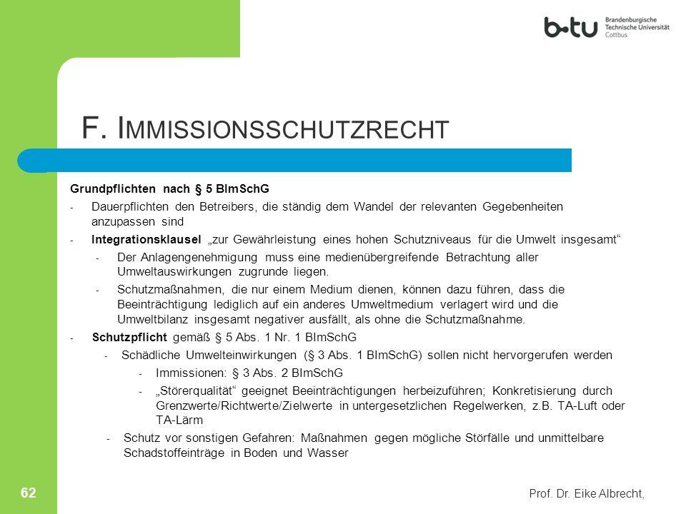 Grundpflichten nach § 5 BImSchG - Dauerpflichten den Betreibers, die ständig dem Wandel der relevanten Gegebenheiten anzupassen sind - Integrationskla