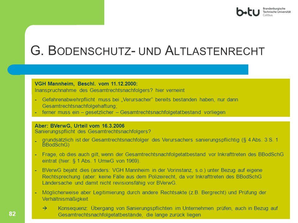 """VGH Mannheim, Beschl. vom 11.12.2000: Inanspruchnahme des Gesamtrechtsnachfolgers? hier verneint ---- Gefahrenabwehrpflicht muss bei """"Verursacher"""" ber"""