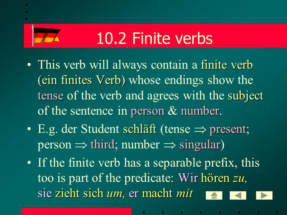 10.33 Subordinate clauses subordinating conjunctionAfter a German subordinating conjunction these 2 word order rules must be observed: SUBJECT1) The SUBJECT of the clause immediately follows the subordinating conjunction.