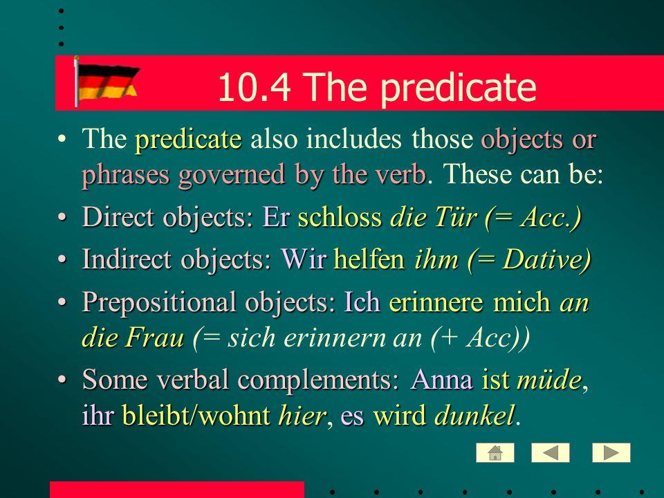 10.35 Nebensatz: exception finite verbfirst modal verb compound tenseThe finite verb in a Nebensatz comes first: - if there is a modal verb + another verb - if the verb is in a compound tense hatabfahren müssenEs stimmt, dass sie dann hat abfahren müssen.