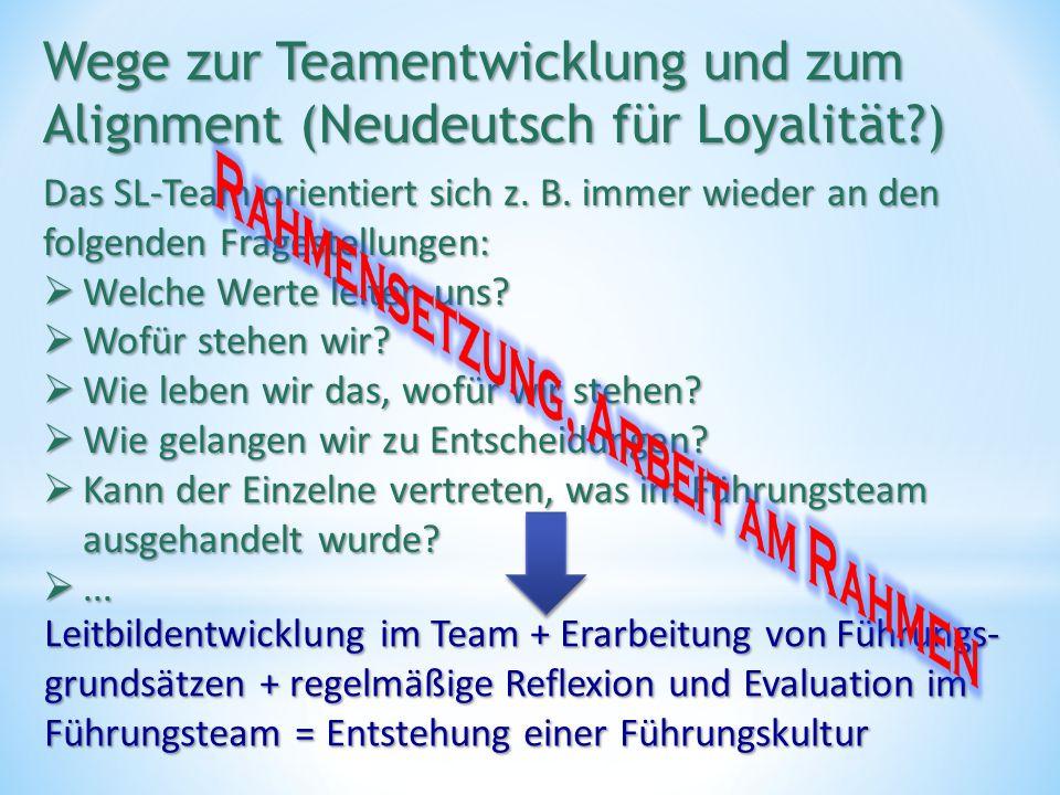 Das SL-Team orientiert sich z.B.