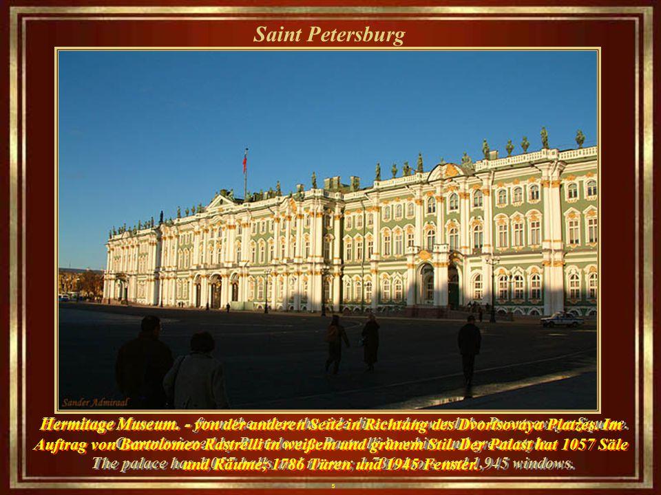 5 Saint Petersburg Hermitage Museum.