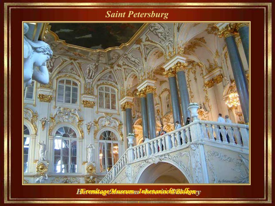 7 Saint Petersburg Hermitage museum– Interior Balconey Eremitage Museum - Innenansicht Balkon