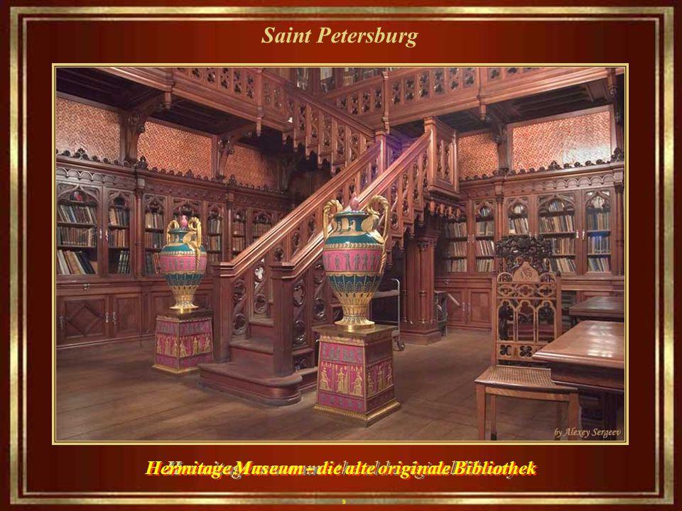 9 Saint Petersburg Hermitage museum - the old original library Hermitage Museum - die alte originale Bibliothek