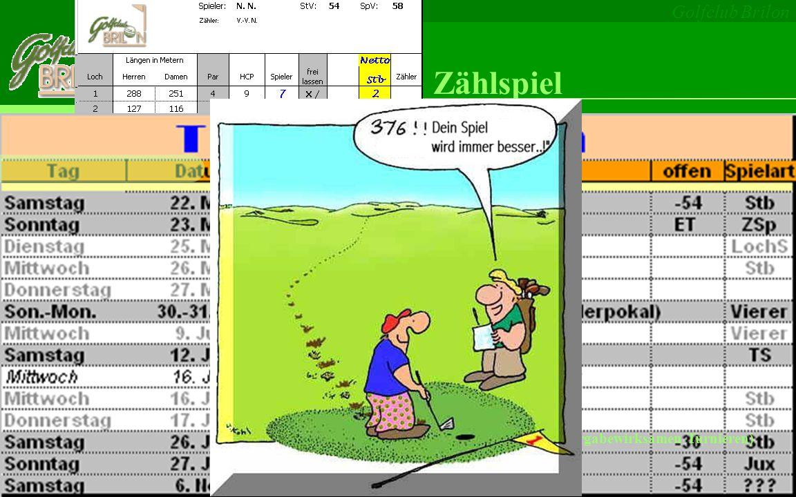 Golfclub Brilon Stableford Lochspiel Vierer/Vierball Texas Scramble...