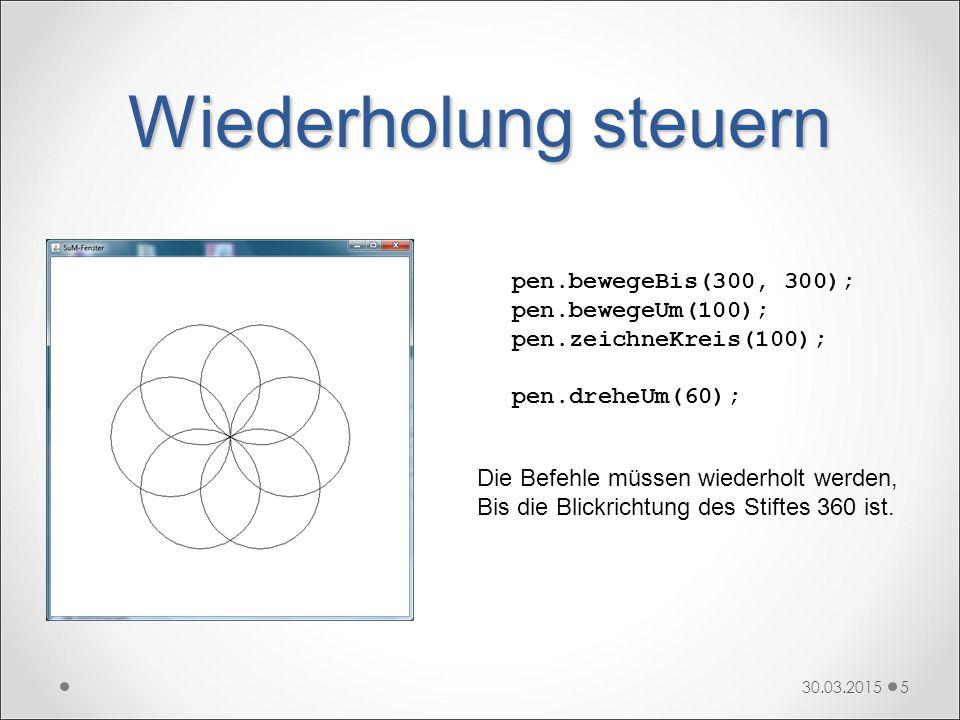do-while-Schleife 30.03.201516 do { // Anweisungen } while (Bedingung) Hinter dem Schlüsselwort do steht der Schleifenrumpf in geschweiften Klammern.