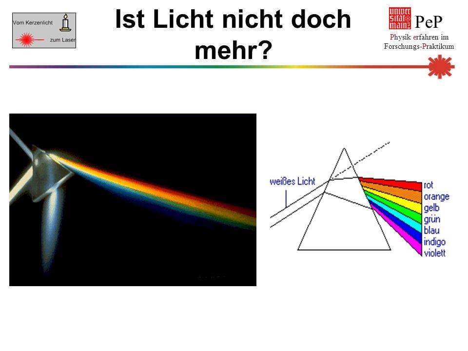PeP Physik erfahren im Forschungs-Praktikum Ist Licht nicht doch mehr?