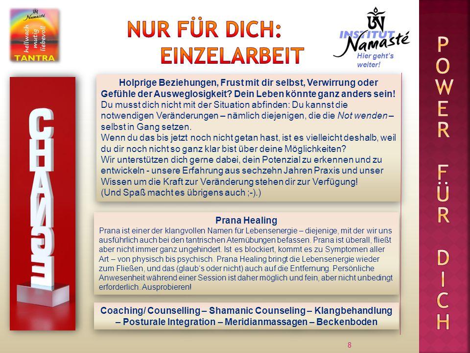 9 Ale Schratt Dr.Amrit Fuchs Körperarbeit, Einzelberatung Institutsleitung Mike Hofer Mag.