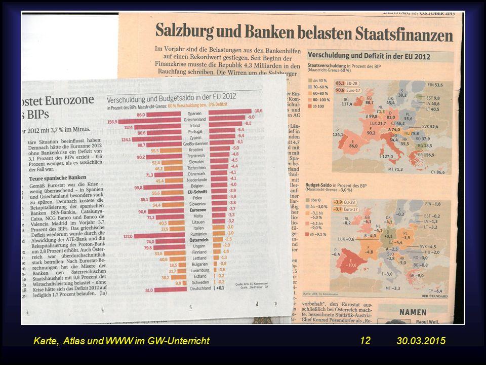 30.03.2015Karte, Atlas und WWW im GW-Unterricht 12