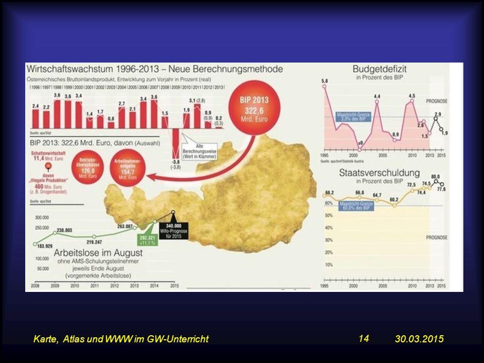 30.03.2015Karte, Atlas und WWW im GW-Unterricht 14