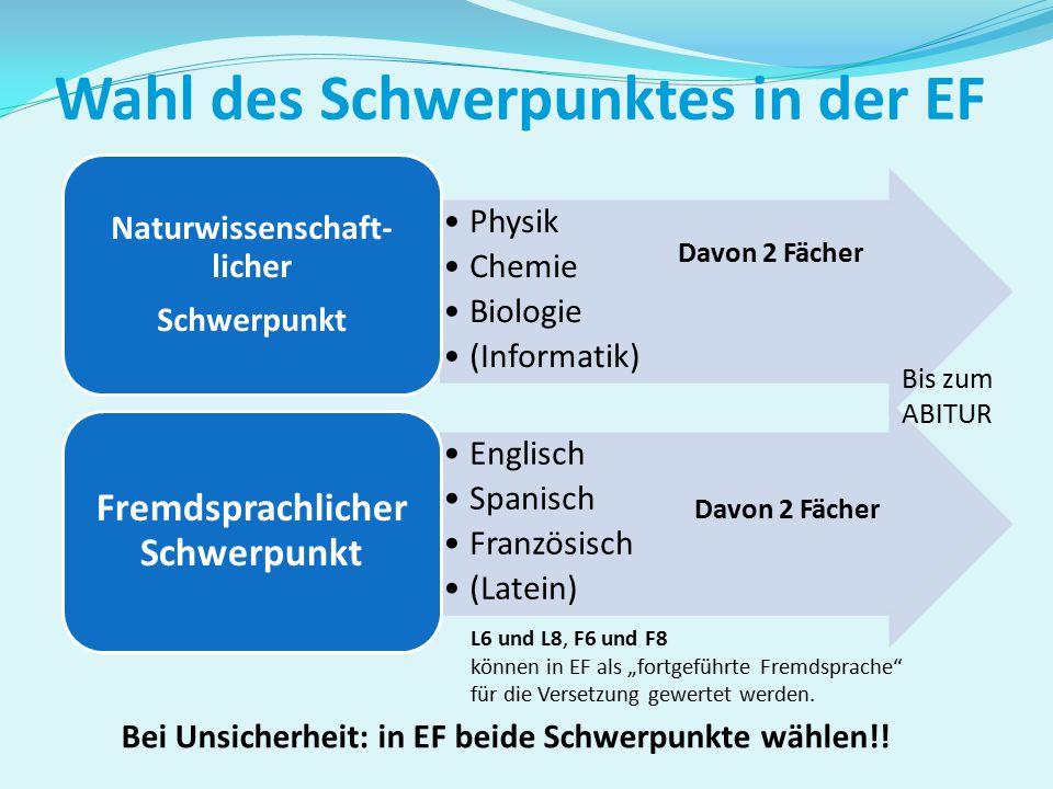 """Restliche Kurse: unterschiedliche Zusammensetzung DeutschEnglischMathematikSport Bildung von """"Stammgruppen"""" in der Einführungsphase"""