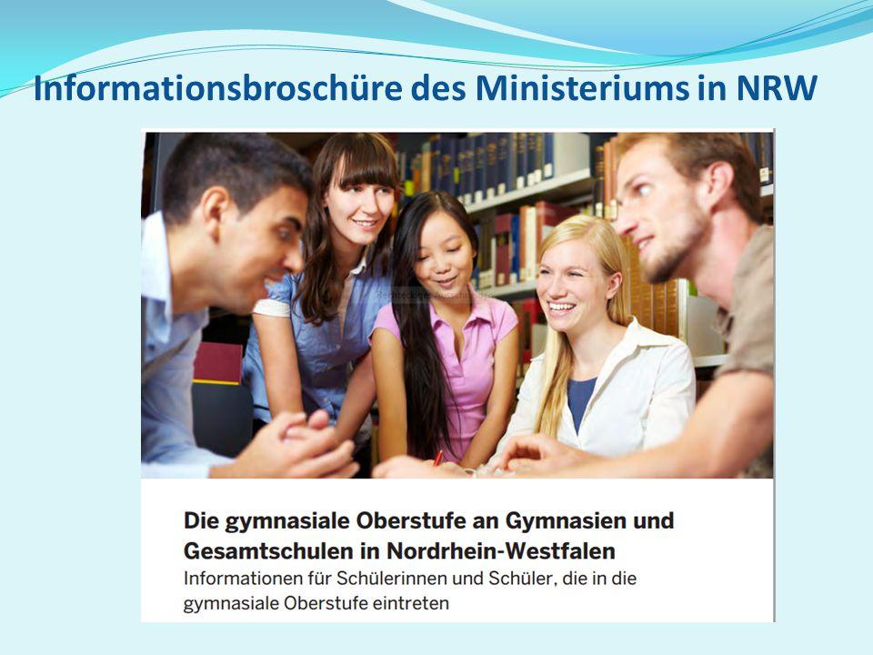 Informationsbroschüre des Ministeriums in NRW