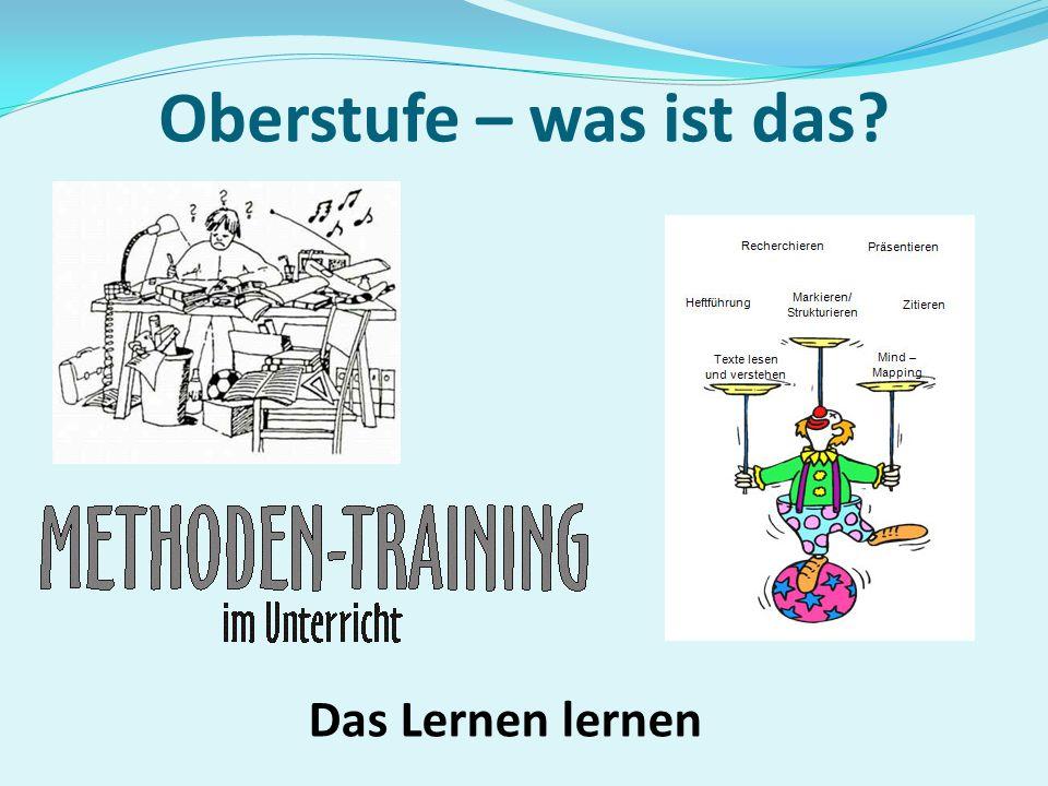Oberstufe als Kurssystem Der Unterricht in der Oberstufe findet in Kursen statt.