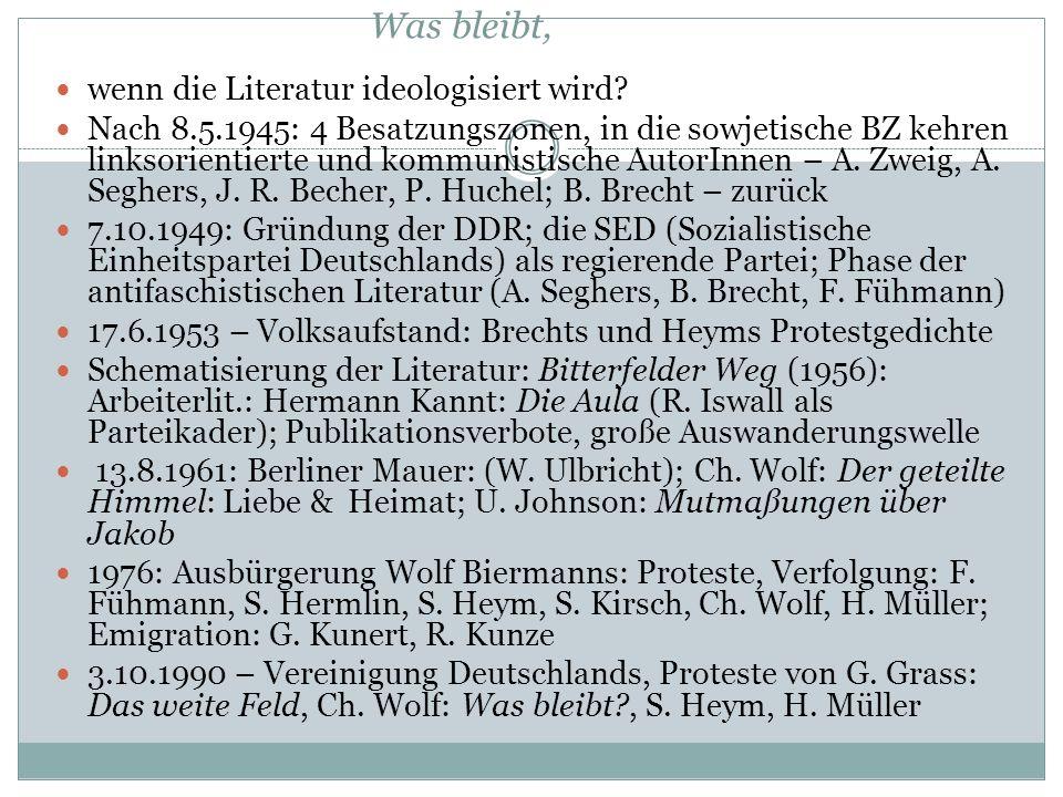 """3. Phase (ab 1971): """"postrevolutionäre"""" Situation Zunächst Phase der Lockerung seit dem Amtsantritt Erich Honeckers 1971. Rede auf dem VIII. Parteitag"""