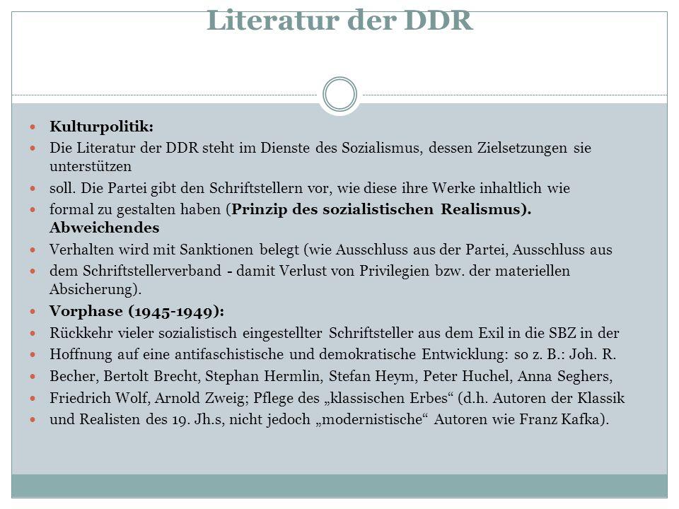 Kennzeichen der frühen DDR 1.Die Aktivisten- Bewegung Produktionssteigerung durch neue sozialistische Arbeitsformen: Arbeitsnormen (sozialistische Brigaden, Jahrespläne...) 2.