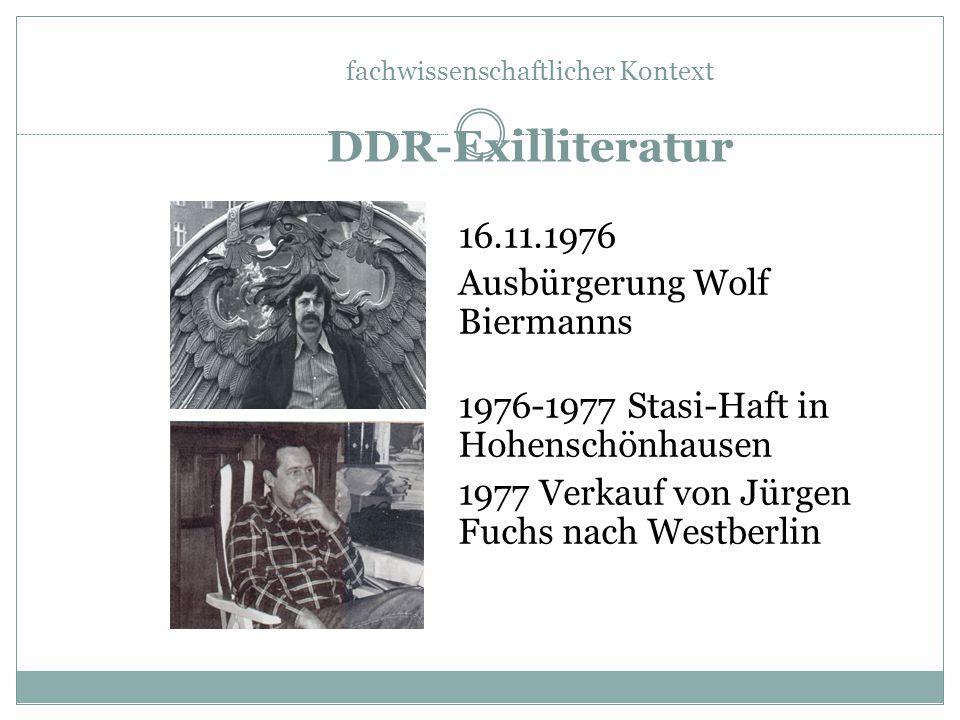 1. Ausreisewelle: Ende der 50er Jahre 2.Ausreisewelle: Nach Ausbürgerung Biermanns
