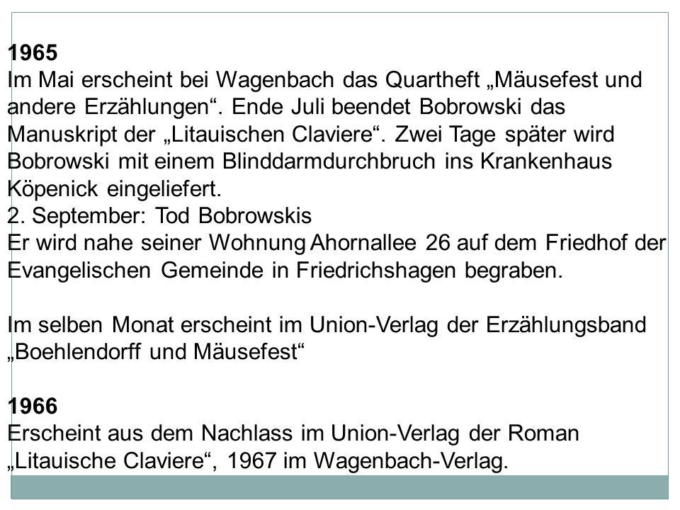 """1962 Im März erscheint bei der DVA der Gedichtband """"Schattenland Ströme (im Mai 1963 folgt der Union-Verlag)."""