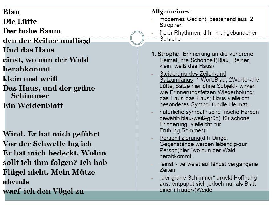 """Gedichtsinterpretation JOHANNES BOBROWSKI: """"HEIMWEG"""