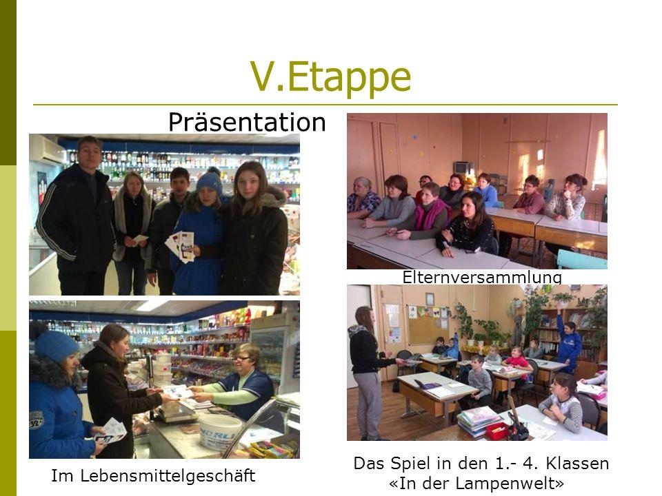 V.Etappe Präsentation Elternversammlung Das Spiel in den 1.- 4.