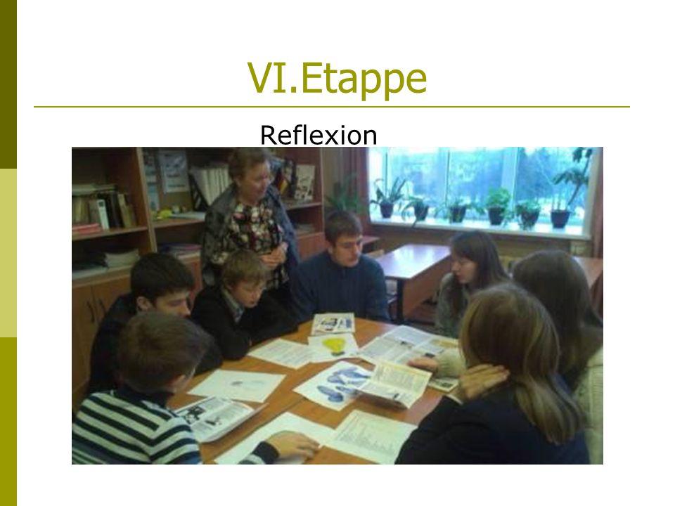 VI.Etappe Reflexion