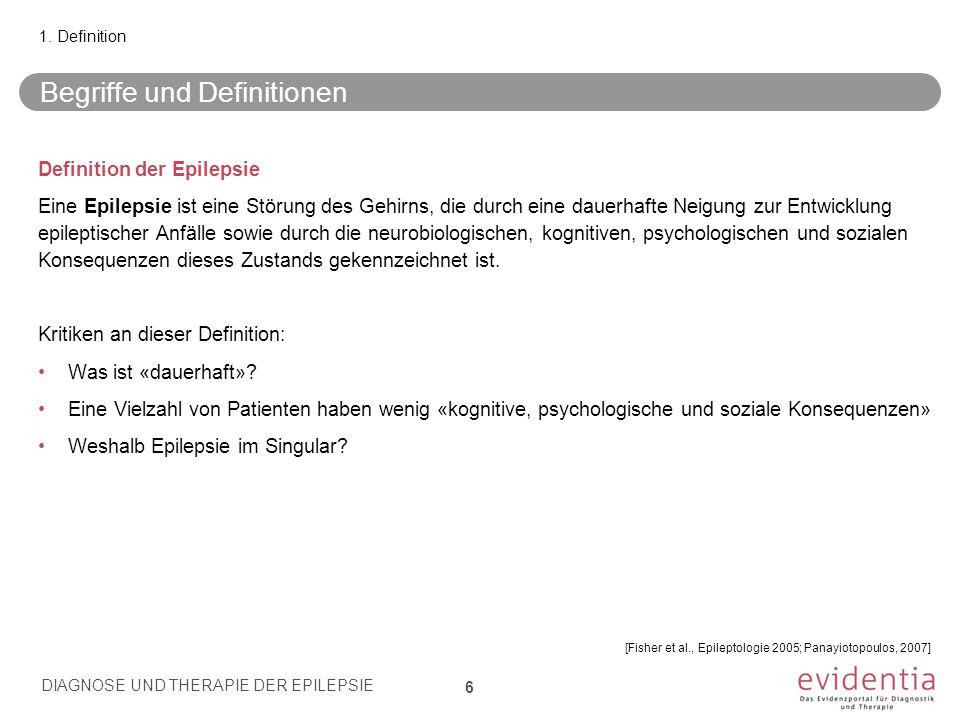 Klassifikation der Epilepsien, Deutsche Gesellschaft für Neurologie Generalisierte Epilepsien - inklusive der Absence-Epilepsie des Schulalters, der Aufwach-Grand-Mal-Epilepsie, der juvenilen myoklonischen Epilepsie Idiopathische fokale Epilepsien - inklusive der benignen Partial-Epilepsien des Jugendalters (z.B.