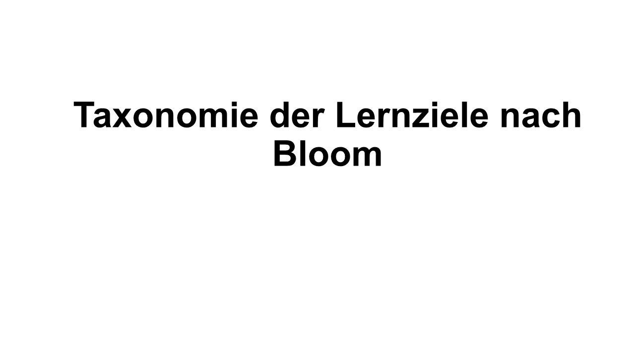 Taxonomie der Lernziele nach Bloom