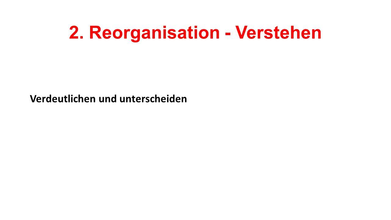 2. Reorganisation - Verstehen Verdeutlichen und unterscheiden