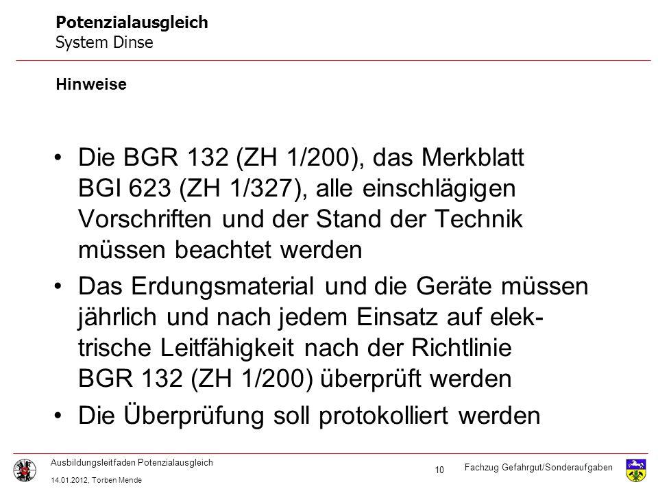 Fachzug Gefahrgut/Sonderaufgaben Ausbildungsleitfaden Potenzialausgleich 14.01.2012, Torben Mende 21 Vielen Dank für die Aufmerksamkeit.
