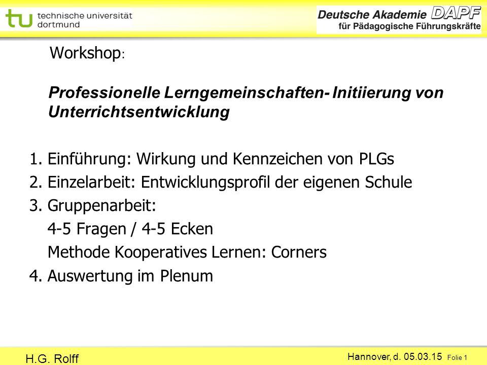 Hannover, d.05.03.15 Folie 1 H.G.